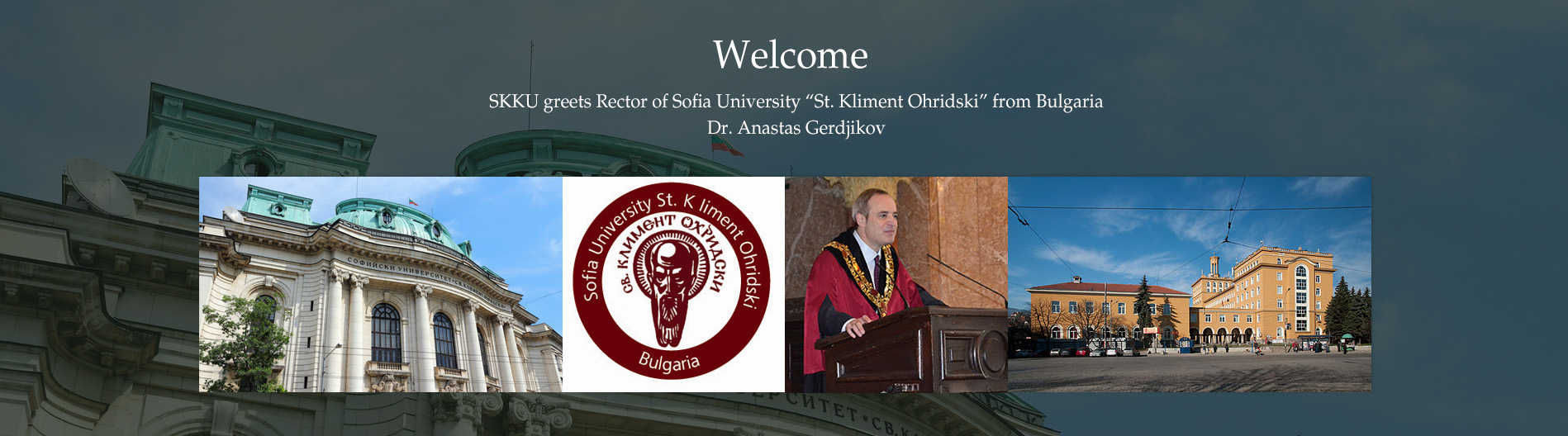 SKKU greets Rector of Sofia University
