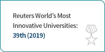 Reuters Asia Pacific Region's Most Innovative Universities: 5th (2017)