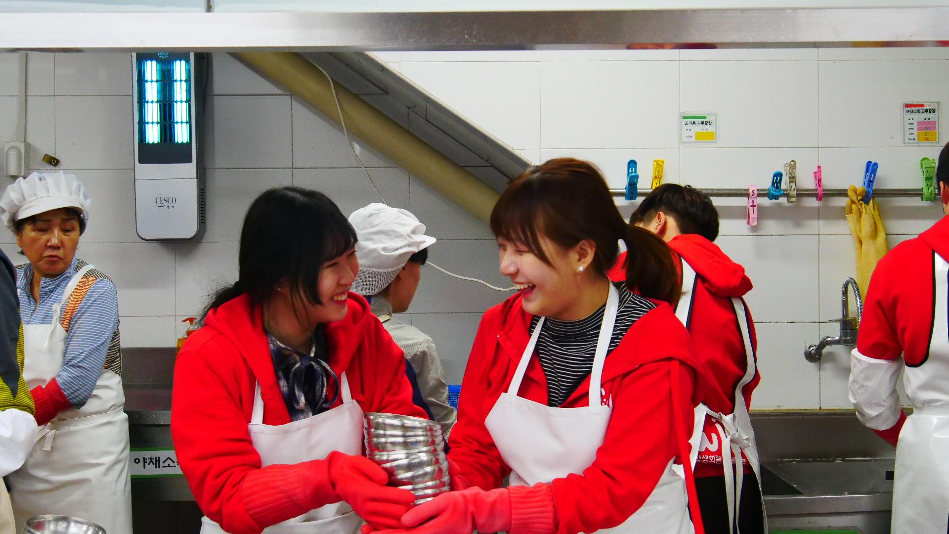 총학생회 배식봉사